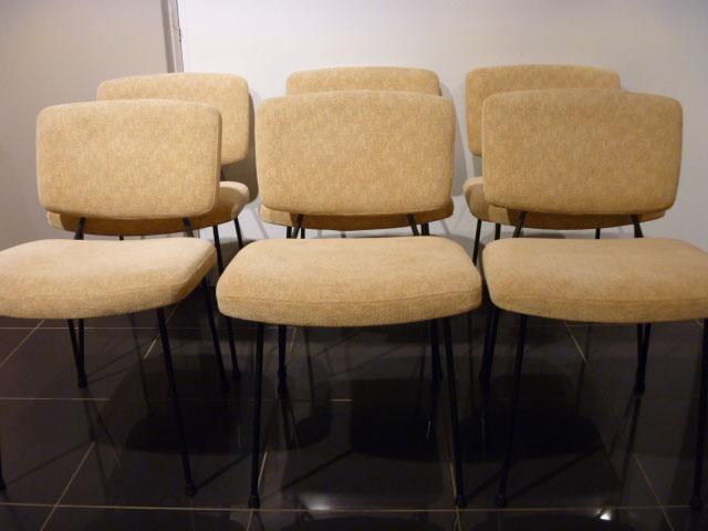 6 chaises de pierre paulin. Black Bedroom Furniture Sets. Home Design Ideas