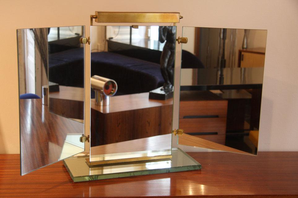 Miroir tryptique eclairant de la maison brot for Reputation meubles concept