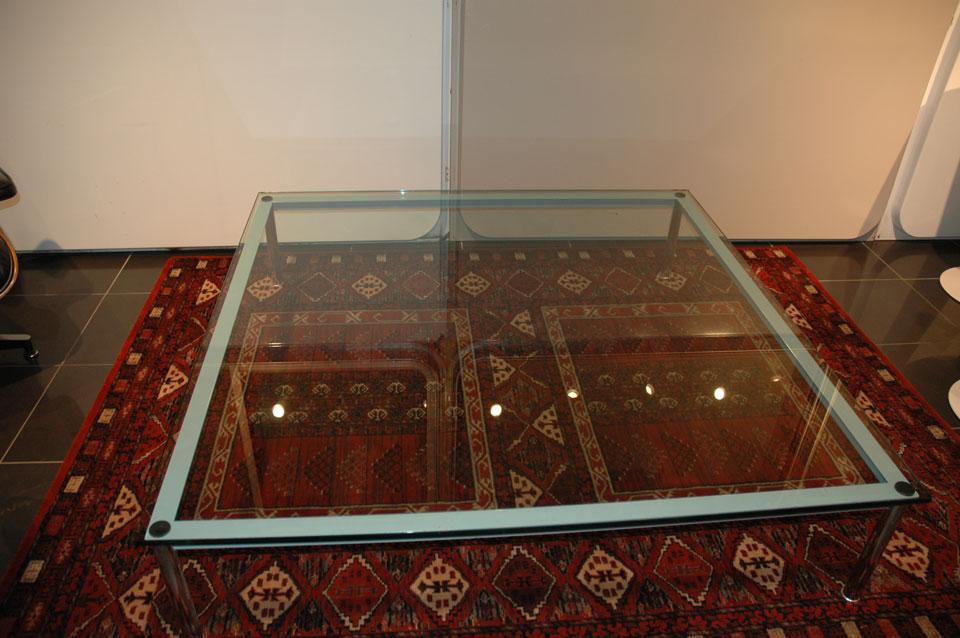 Table basse cassina lc10 inspiration le corbusier - Table basse corbusier ...