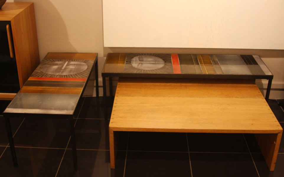 table basse capron great vintage coffee table by roger. Black Bedroom Furniture Sets. Home Design Ideas