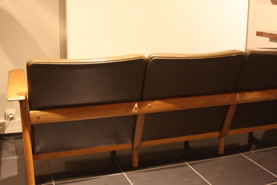 Canap 3 places sign steiner des ann es 60 39galerie s b et estate39gallery lyon - Canape steiner ...
