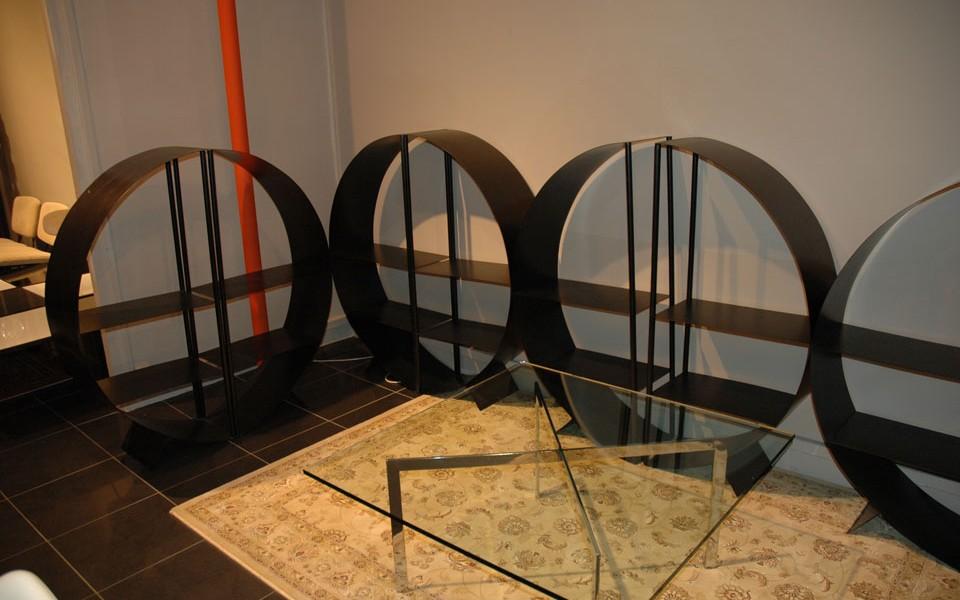 39 Galerie etageres métalliques noires