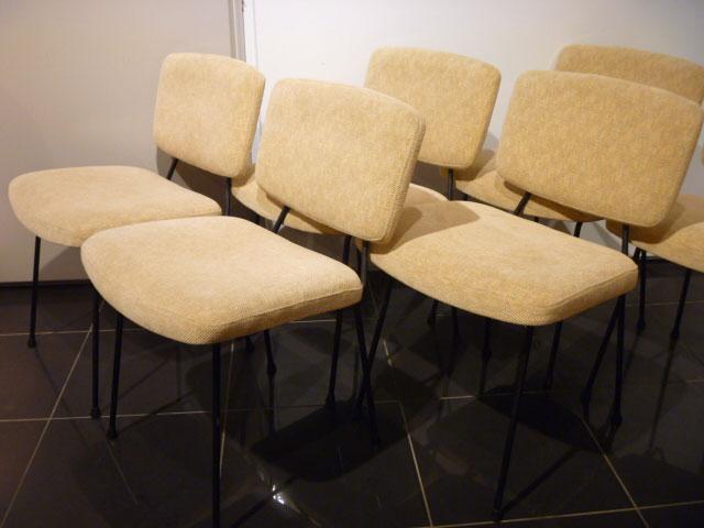 Lot de 6 chaises Pierre Paulin